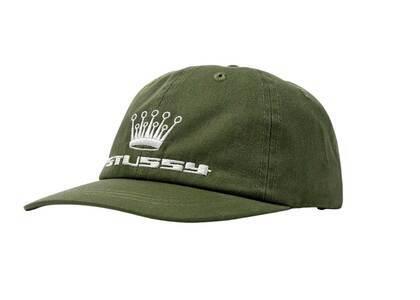 Stussy 95 Slick Crown Low Pro Cap Olive (SS21)の写真