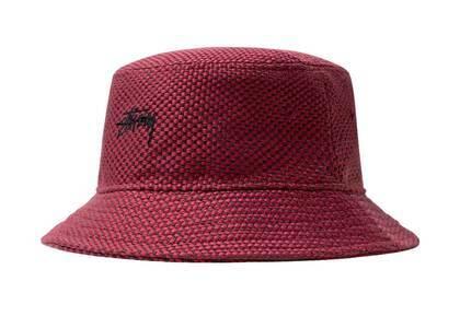 Stussy Jute Weave Bucket Hat Red (SS21)の写真