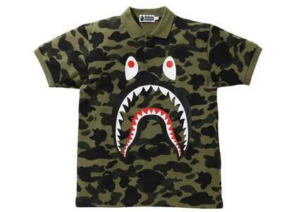 Bape 1st Camo Shark Polo Green (SS21)の写真