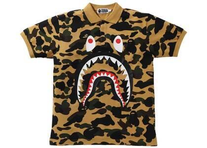 Bape 1st Camo Shark Polo Yellow (SS21)の写真