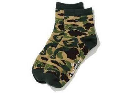 Bape ABC Camo Ankle Socks (SS20) Green (SS20)の写真