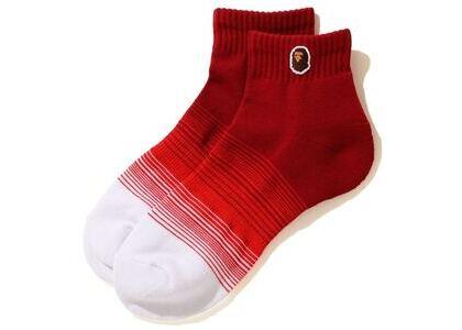 Bape Ape Head One Point Gradation Ankle Socks Red (SS20)の写真