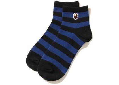 Bape Ape Head One Point Hoop Ankle Socks Black/Blue (SS20)の写真