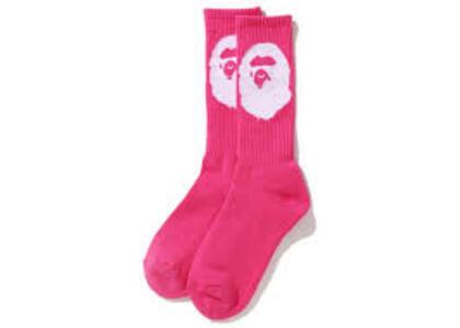 Bape Big Ape Head Socks Pink (SS20)の写真