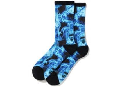 Bape Flame Socks Blue (SS20)の写真