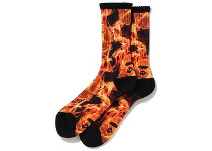 Bape Flame Socks Orange (SS20)の写真