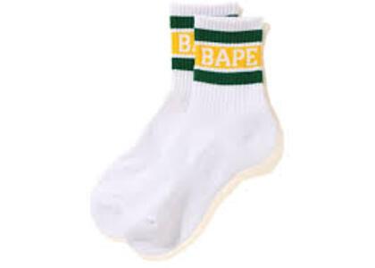 Bape Logo Ankle Socks Green (SS20)の写真
