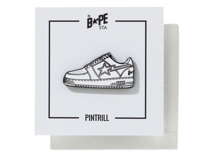 Bape Bapesta Pintrill Pin White (SS20)の写真