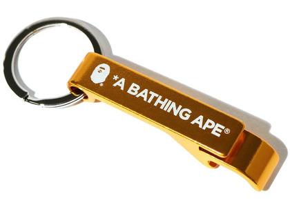 Bape Bottle Opener Keychain Yellow (SS20)の写真