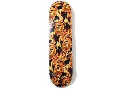 Bape Flame Skateboard Orange (SS20)の写真
