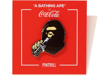 Bape x Coca Cola Ape Head Pintrill Pin Brown (SS20)の写真