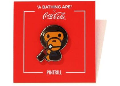 Bape x Coca Cola Baby Milo Pintrill Pin Brown (SS20)の写真