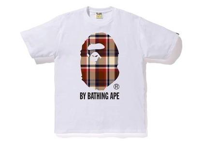 Bape Check By Bathing Ape T White/Red (SS20)の写真