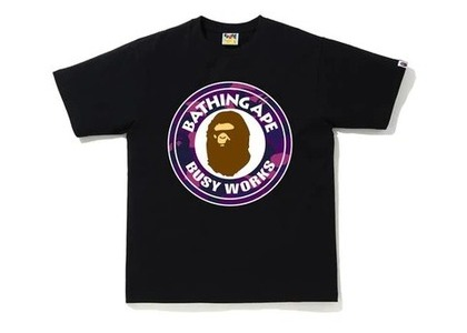 Bape Color Camo Busy Works T-Shirt (SS20) Black/Purple (SS20)の写真