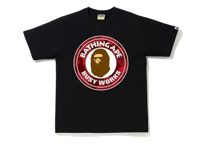 Bape Color Camo Busy Works T-Shirt (SS20) Black/Red (SS20)の写真