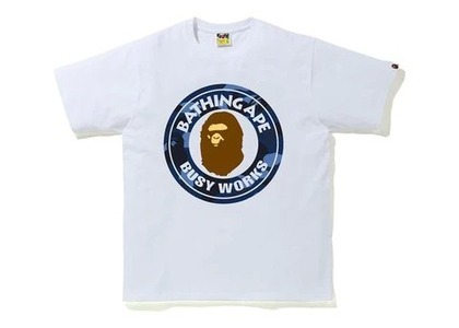 Bape Color Camo Busy Works T-Shirt (SS20) White/Navy (SS20)の写真