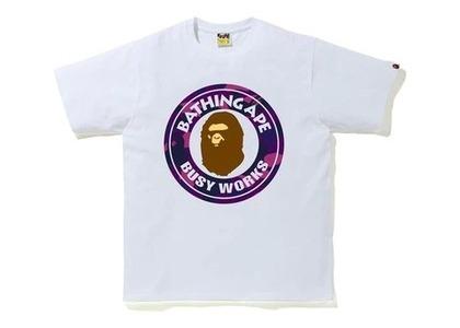 Bape Color Camo Busy Works T-Shirt (SS20) White/Purple (SS20)の写真