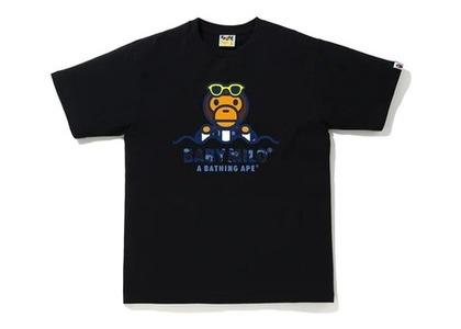 Bape Color Camo Milo Float Summer T-Shirt Black/Blue (SS20)の写真