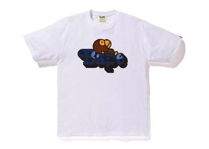 Bape Color Camo Milo On Bape T-Shirt White/Navy (SS20)の写真