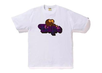Bape Color Camo Milo On Bape T-Shirt White/Purple (SS20)の写真