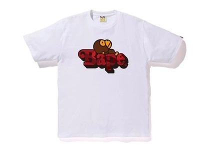Bape Color Camo Milo On Bape T-Shirt White/Red (SS20)の写真