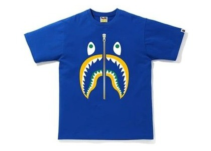 Bape Colors Shark T-Shirt Blue/Yellow (SS20)の写真
