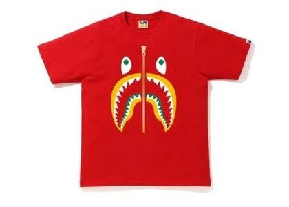 Bape Colors Shark T-Shirt Red/Yellow (SS20)の写真
