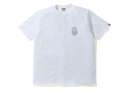 Bape Crystal Stone Ape Head T-Shirt White (SS20)の写真