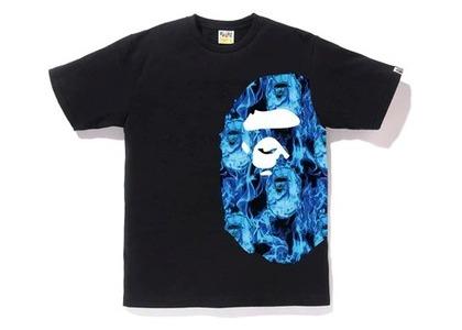 Bape Flame Side Big Ape Head T Black/Blue (SS20)の写真