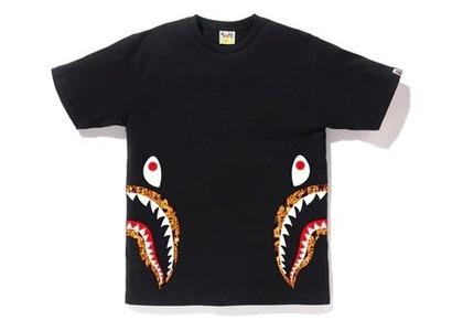 Bape Flame Side Shark T Black/Orange (SS20)の写真