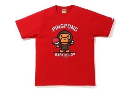 Bape Milo Pingpong Sports T Red (SS20)の写真