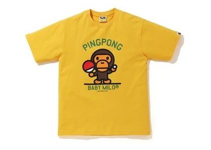 Bape Milo Pingpong Sports T Yellow (SS20)の写真