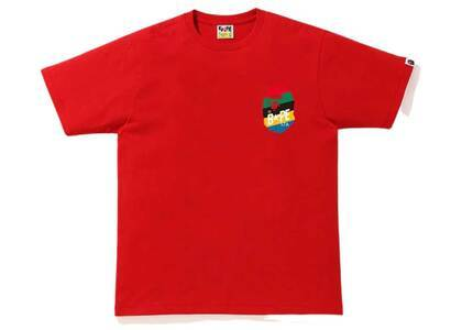Bape Multi Color Sta Logo T Red (SS20)の写真