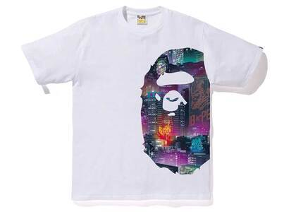 Bape Neon Tokyo Side Big Ape Head T White (SS20)の写真