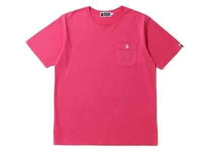 Bape One Point Pocket Overdye T Pink (SS20)の写真