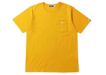 Bape One Point Pocket Overdye T Yellow (SS20)の写真
