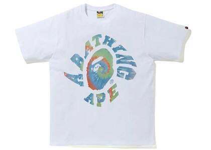 Bape Pigment Tie Dye Twist College T-Shirt White/Sax (SS20)の写真