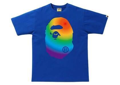 Bape Rainbow Big Ape Head T Blue (SS20)の写真