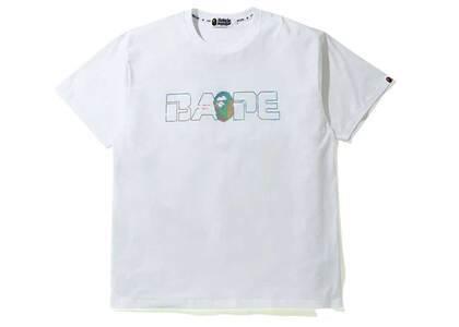 Bape Relaxed Aurora Logo T White (SS20)の写真