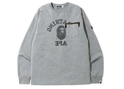 Bape Reverse College Long Sleeve T Grey (SS20)の写真