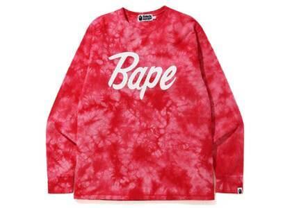 Bape Tie Dye L/S T Red (SS20)の写真