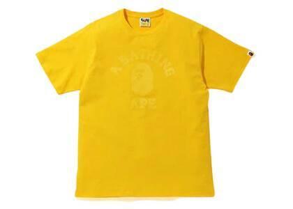 Bape Tonal College T Yellow (SS20)の写真
