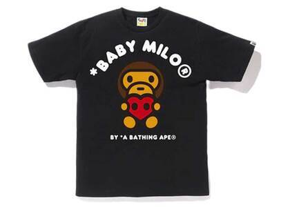 Bape Valentine Heart Baby Milo T Black (SS20)の写真
