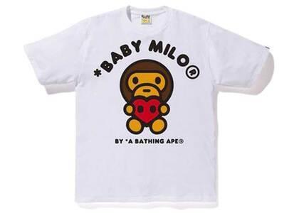 Bape Valentine Heart Baby Milo T White (SS20)の写真
