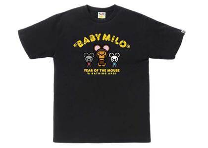 Bape Year of The Mouse Baby Milo T Black (SS20)の写真