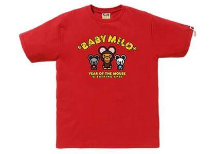 Bape Year of The Mouse Baby Milo T Red (SS20)の写真