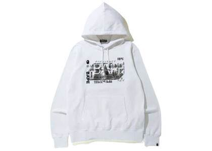 Bape 27th Anniversary Foil Wide Pullover Hoodie White (SS20)の写真