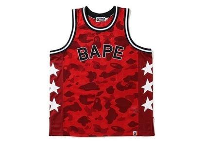 Bape Color Camo Basketball Tank Top (SS20) Red (SS20)の写真