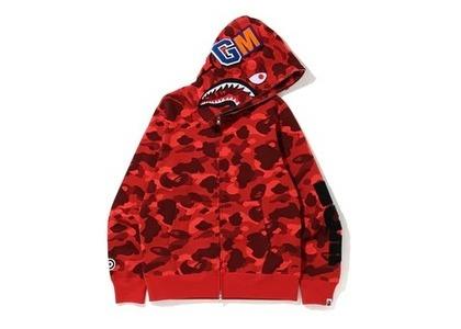 Bape Color Camo Detachable Shark Full Zip Hoodie Red (SS20)の写真