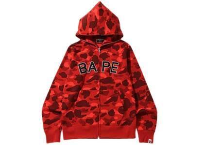 Bape Color Camo Logo Full Zip Hoodie Red (SS20)の写真